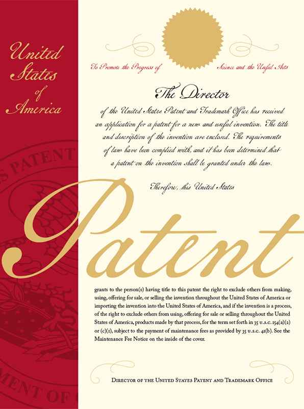 2018 Patent document design