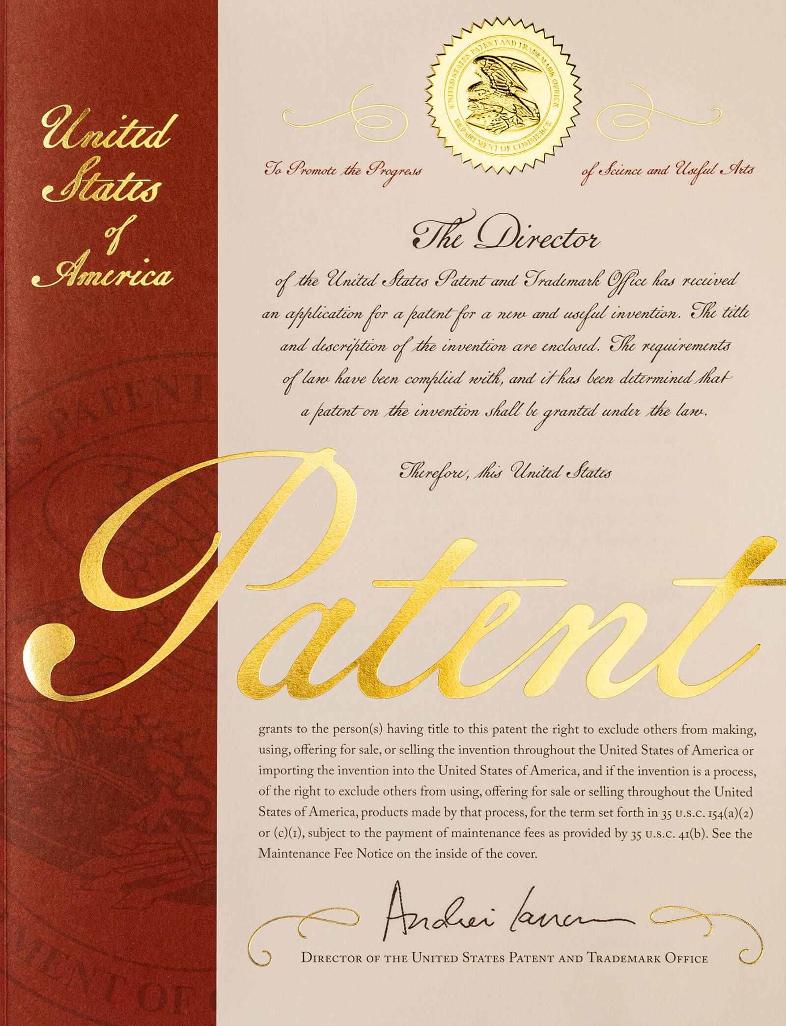 10 Million Patents United States Patent And Trademark Office